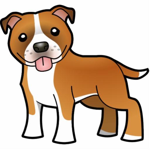 Drawn bull terrier cartoon Photo Sculpture / Cartoon Photo