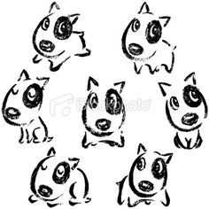 Drawn bull terrier drawing Terrier illustration Clipart Puppy Pin
