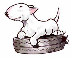 Drawn bull terrier terrier dog Studios  animals Bull #Bull