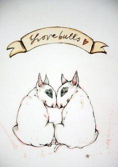 Drawn bull terrier terrier dog Et artist?! cute! So me