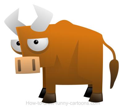 Drawn bull transparent A bull Drawing cartoon cartoon