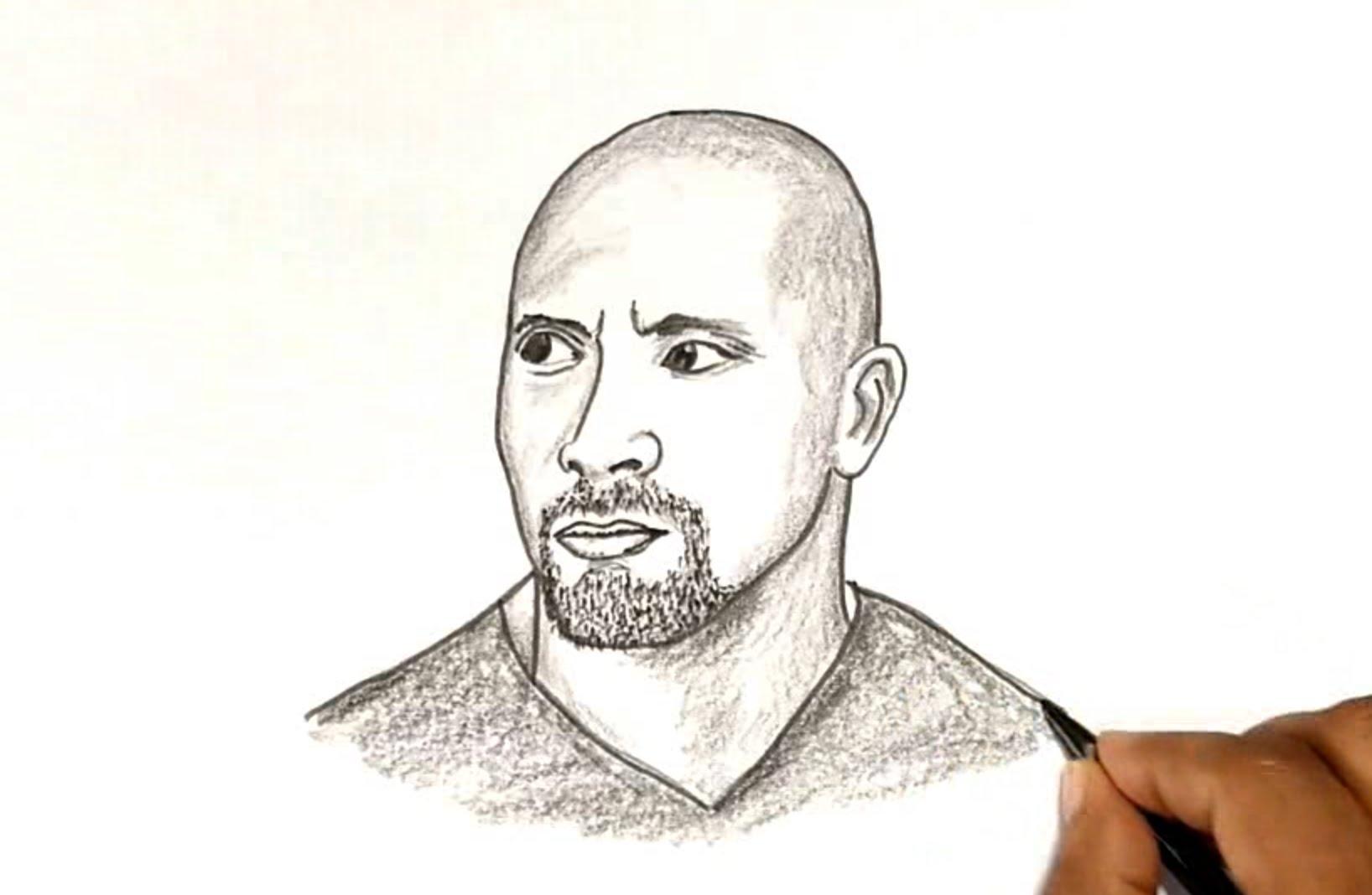 Drawn bull wwe the rock To YouTube Rock Rock Johnson)
