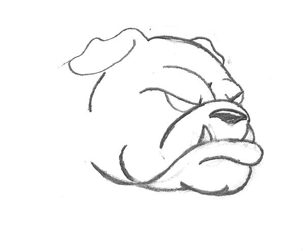 Drawn bulldog The original symbol can found