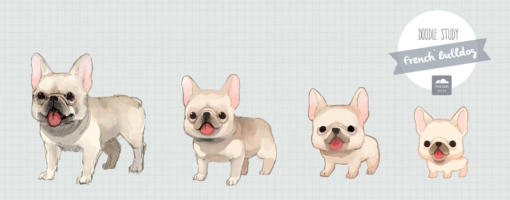 Drawn bulldog chibi Cute Cute photo#18 french Bulldog