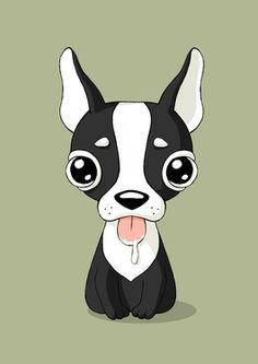 Drawn bulldog chibi Saatchi Digital Friends Bankauskaitė; Pinterest