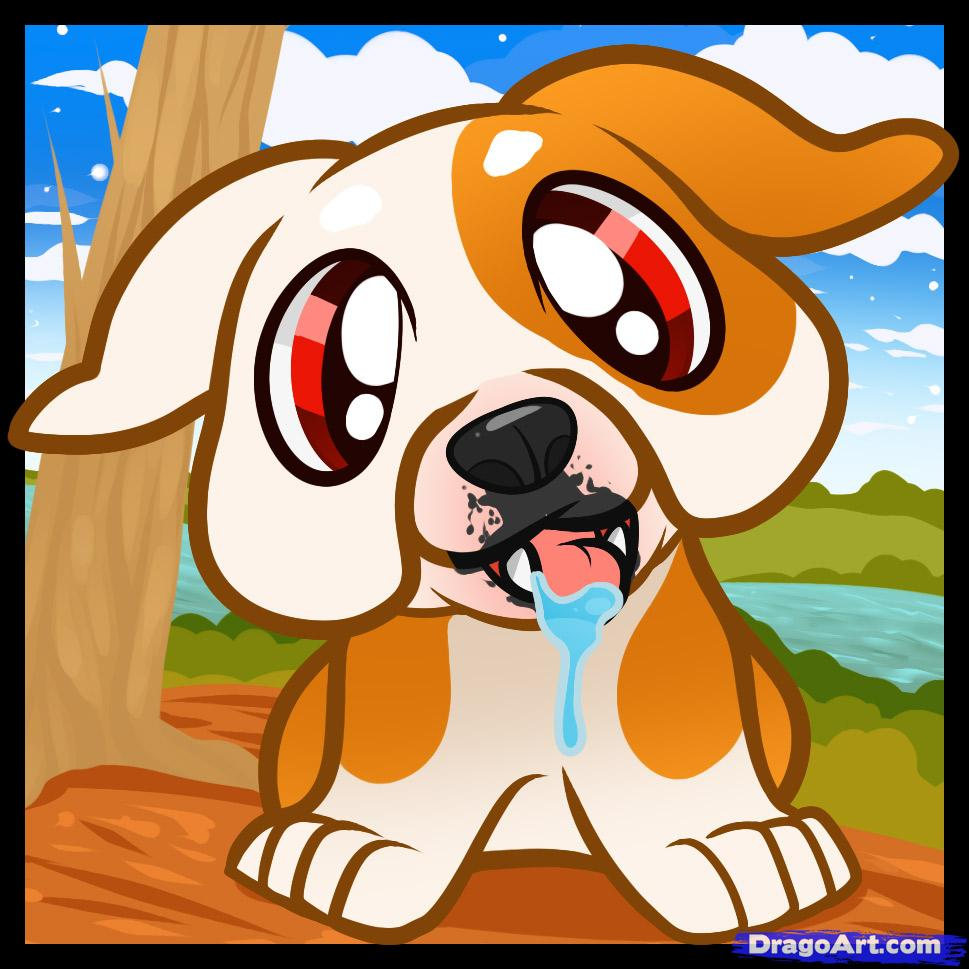Drawn bulldog chibi How puppy Puppy bulldog Pets