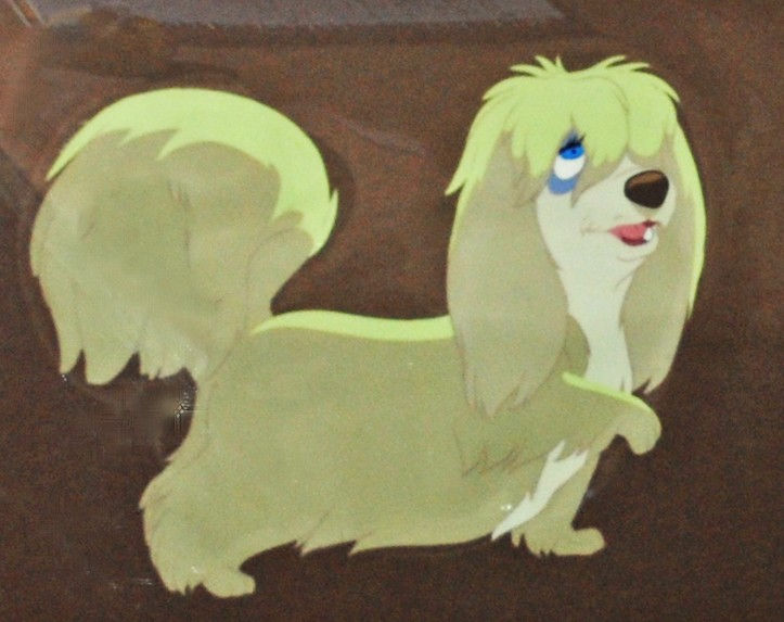 Drawn bulldog lady and the tramp Tramp the Animation and Lady