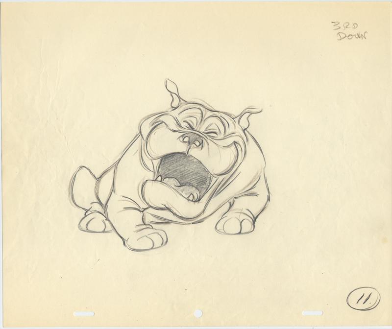 Drawn bulldog lady and the tramp Fine Disney com: LADY Animation