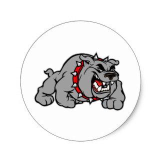 Drawn bulldog mad dog Mad Bulldog Style Zazzle Sticker