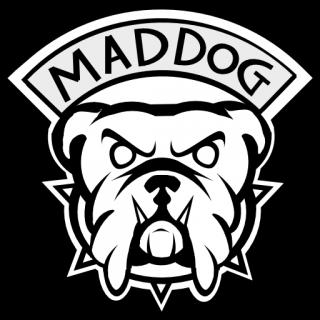 Drawn bulldog mad dog V Emblems Grand  MAD