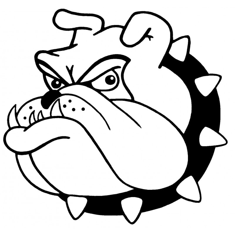 Drawn bulldog mad dog  Football Images Bulldog coloring