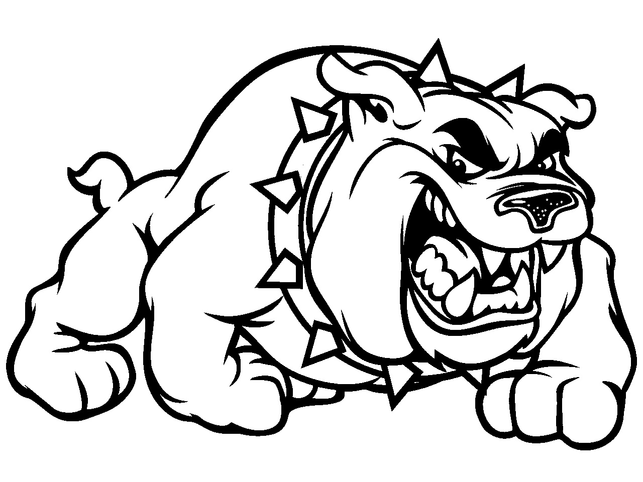 Drawn bulldog mean dog Bulldogs School clipart Pictures for