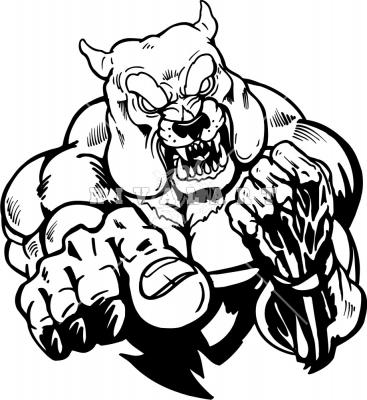 Pitbull clipart mean Drawings Mean Bulldog Drawings bulldog