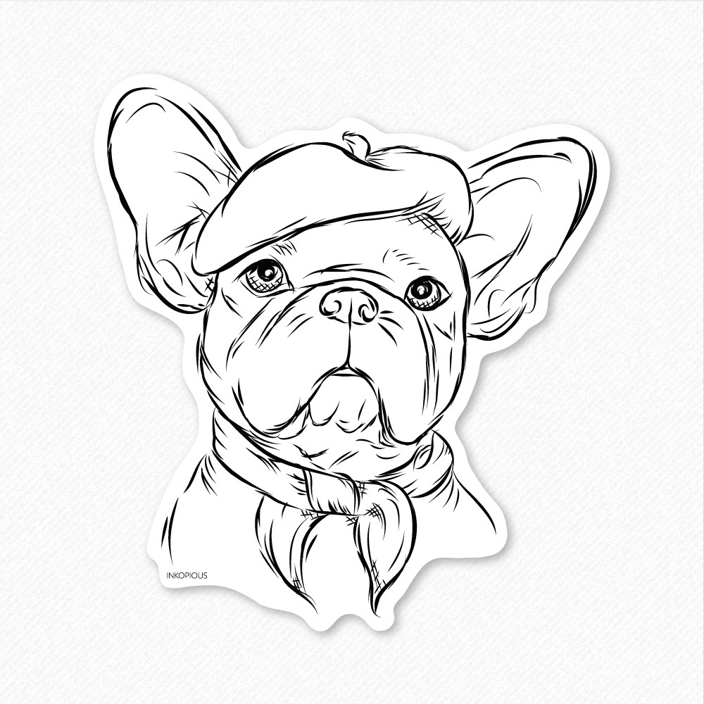 Drawn bulldog sketch Lover Dog French ·