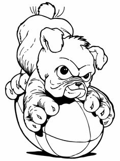 Drawn bulldog sketch Pastel Football Bulldog Bulldog &