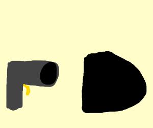 Drawn bullet gun shooting #6