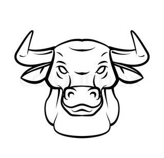 Drawn bull easy Step step easy a draw