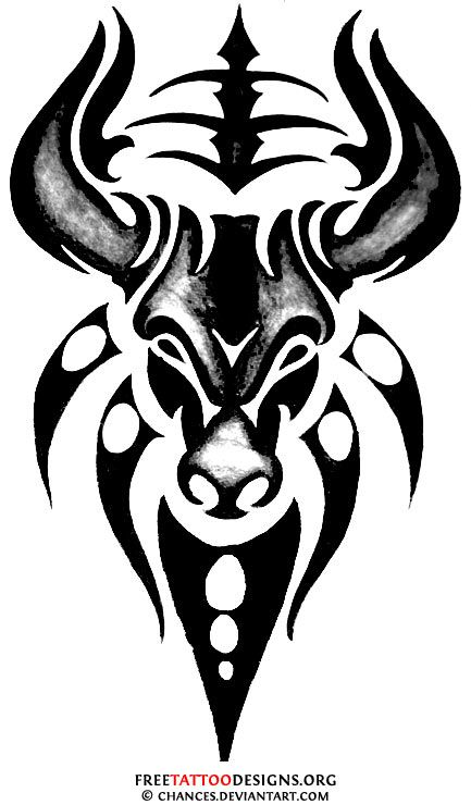 Drawn bull tribal Ideas on best Tribal bull