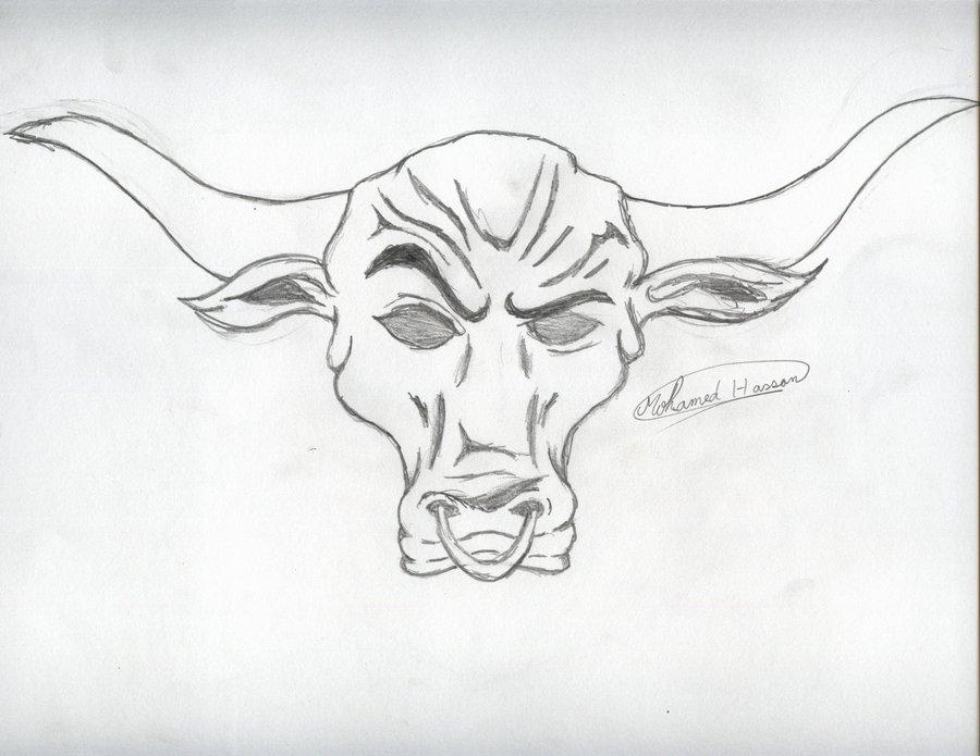 Drawn bull wwe the rock Logo tattoos Rock rocks Tattoo