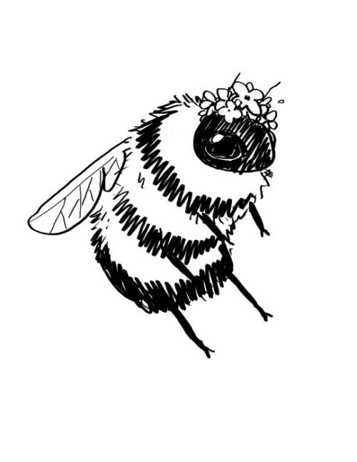 Drawn bumblebee On Pinterest bees ideas crowns