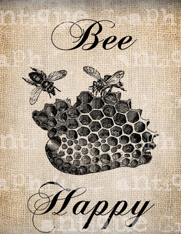 Bee Hive clipart happy bee Vintage baby/infant $1 Digital Bitsy