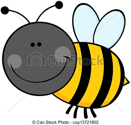 Bee clipart cartoon character Flying Flying Bumble Bumble bee