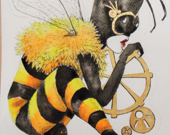 Drawn bumblebee steampunk Queen Bee Steampunk Emo Etsy