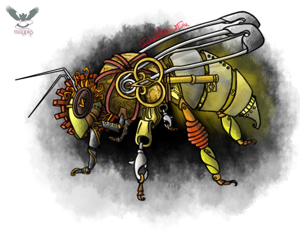 Drawn bumblebee steampunk Magpie Arts by Steampunk Magpie