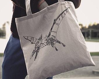 Drawn bumblebee steampunk Bag Mechanical Dinosaur Bag Love
