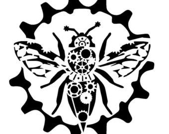 Drawn bumblebee steampunk Bumble bee cogs 12/12
