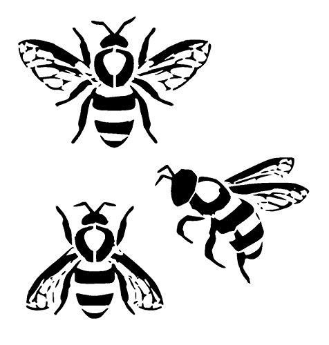 Drawn bumblebee steampunk Uk: Choose size stencil Choose