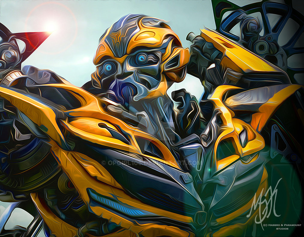 Drawn bumblebee transformers movie Art Transformers: Extinction Transformers OPGirl106