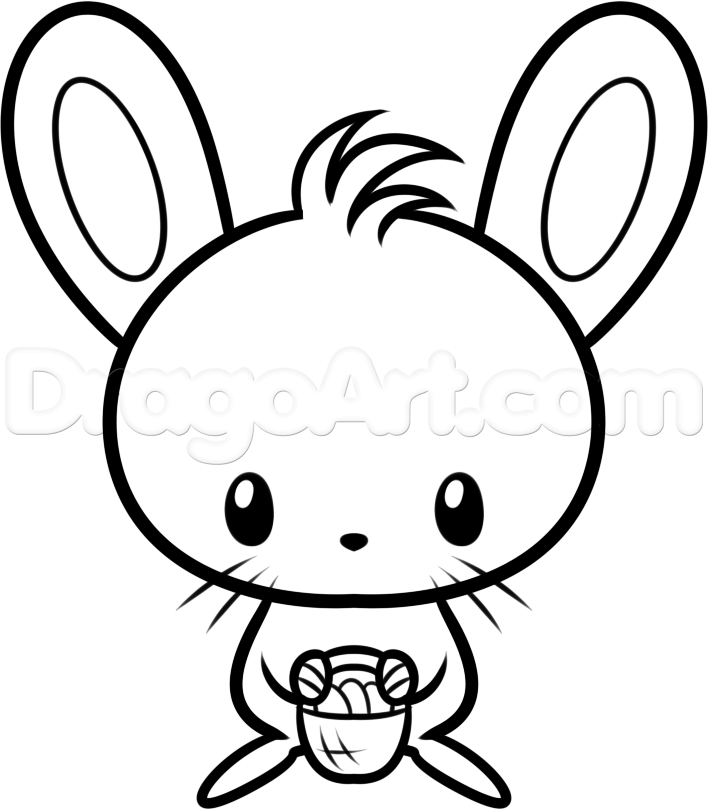Drawn bunny baby bunny (02) Easter Baby 2017 Drawing