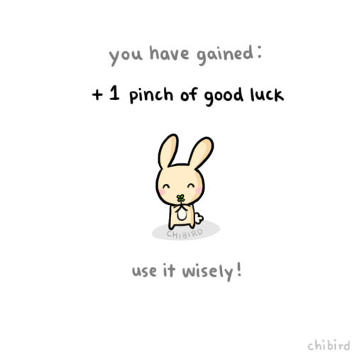 Drawn bunny chibird In luck case needed right