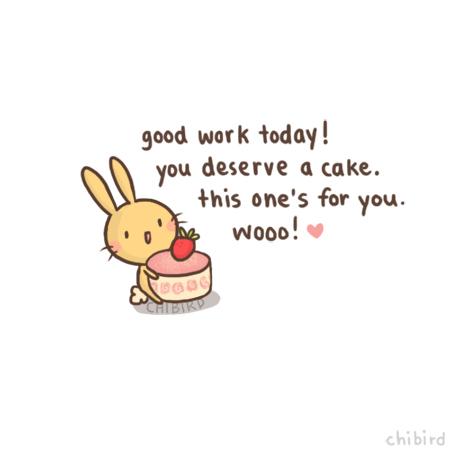 Drawn bunny chibird Good today! good · short