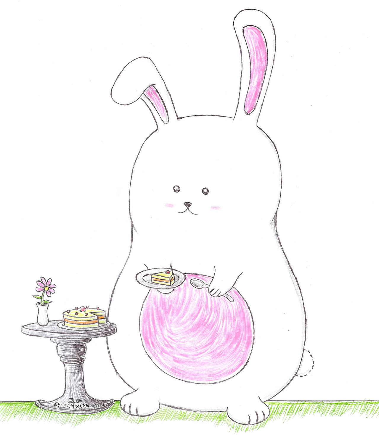 Drawn bunny chubby bunny On txy45 by bunny Chubby