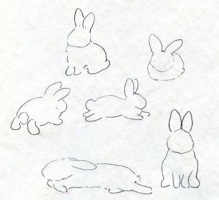 Drawn bunny doodle Paint Rabbit Adorable Learn Pinterest