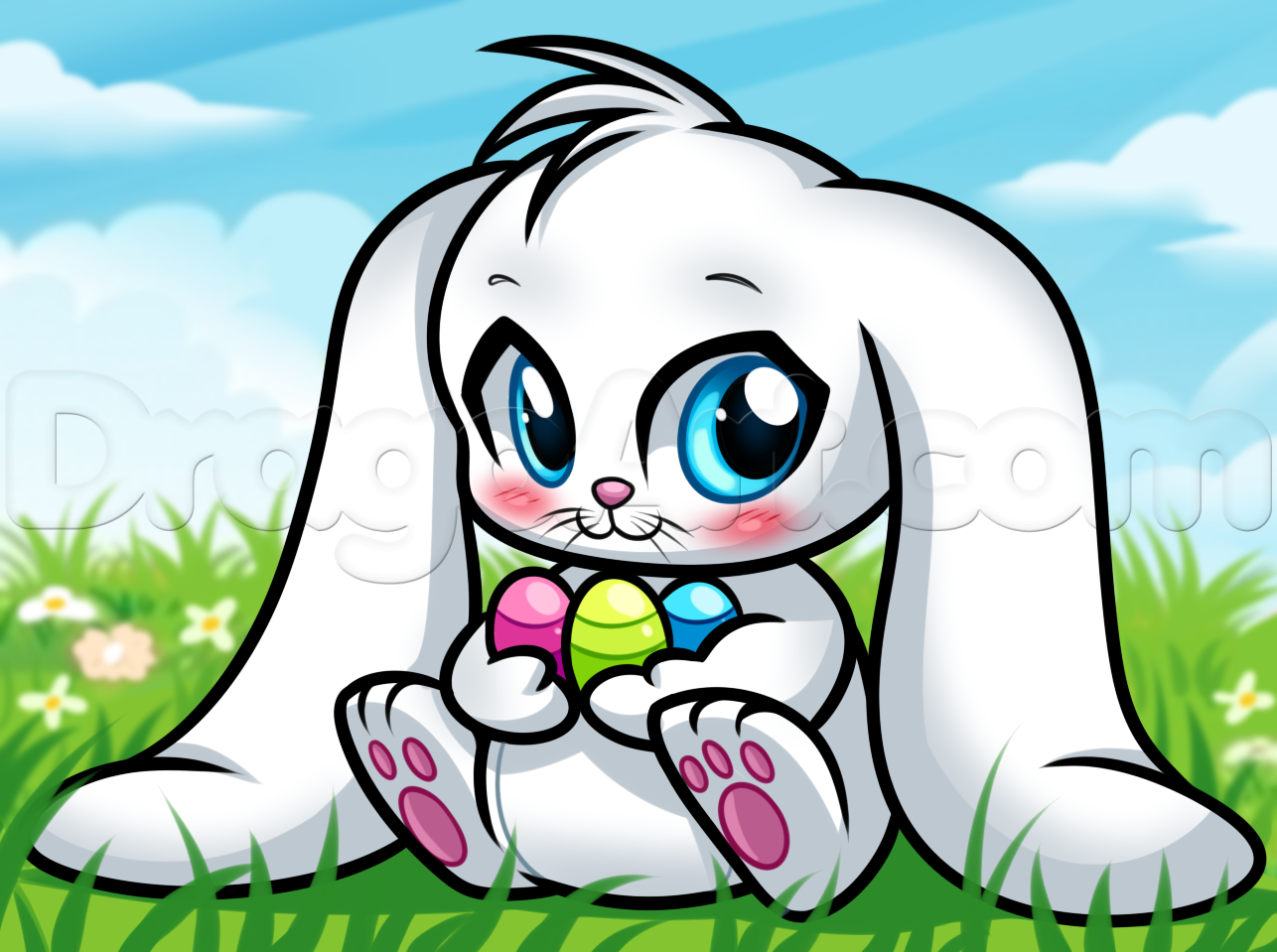 Drawn carrot Draw a easter  easter
