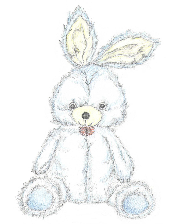 Drawn bunny pencil Illustration Sketch Drawn A4 Bunny