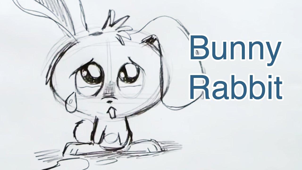 Drawn rabbid sad (Step Step) How A YouTube