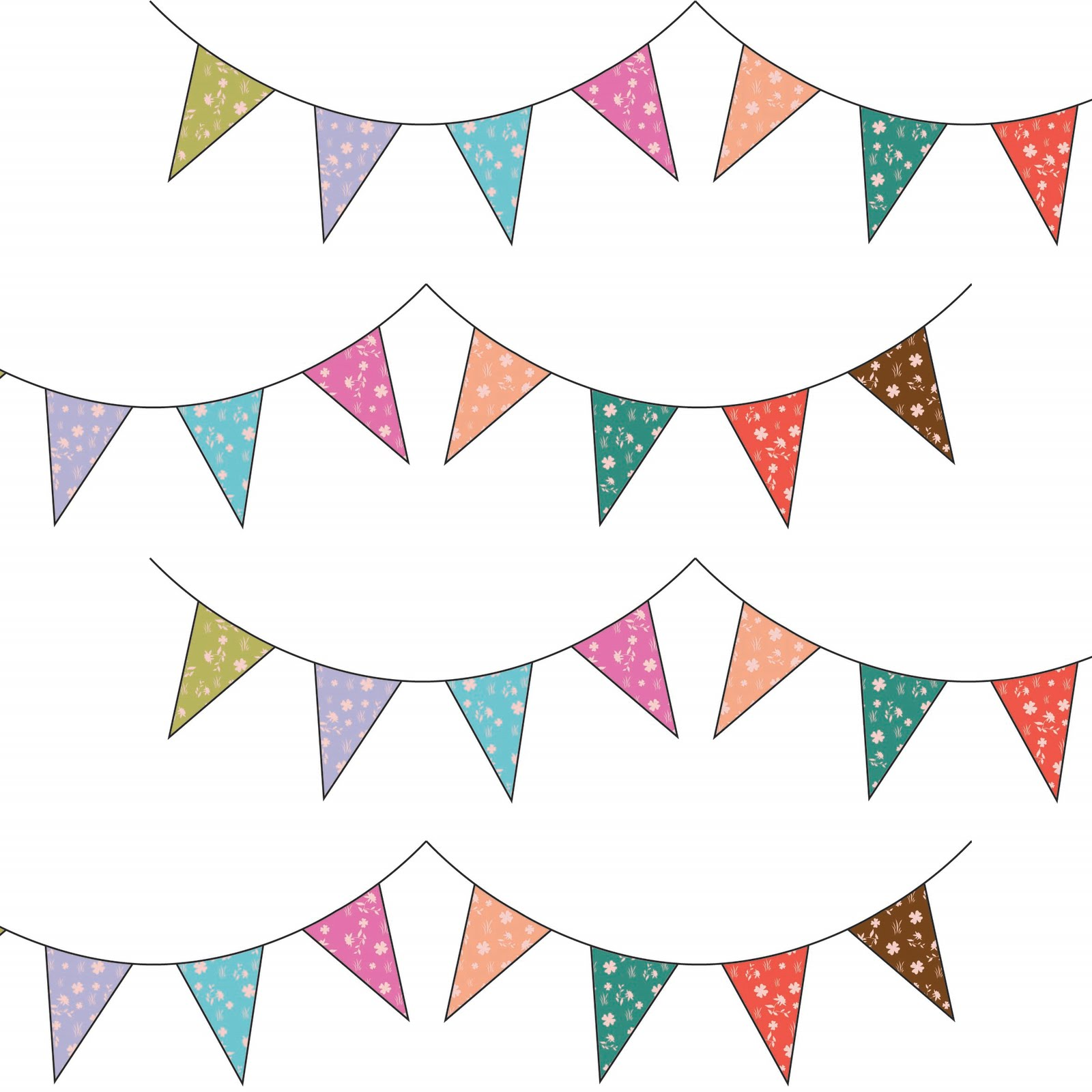 Drawn bunting Coote: A A Vintage Tea