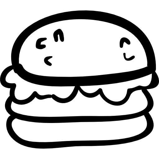 Burger clipart drawn Drawn Hand Free burger drawn