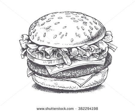 Drawn hamburger anime #15