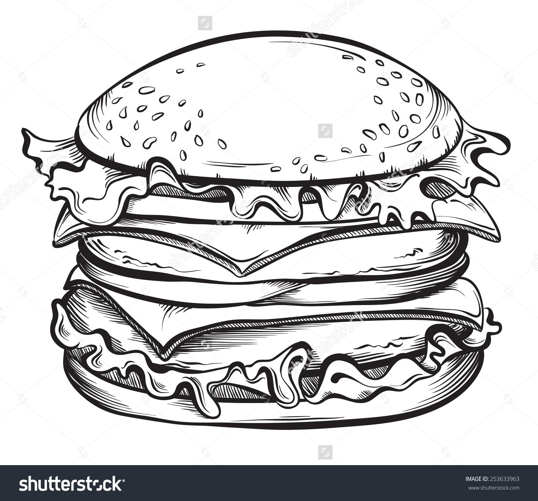 Drawn hamburger #9