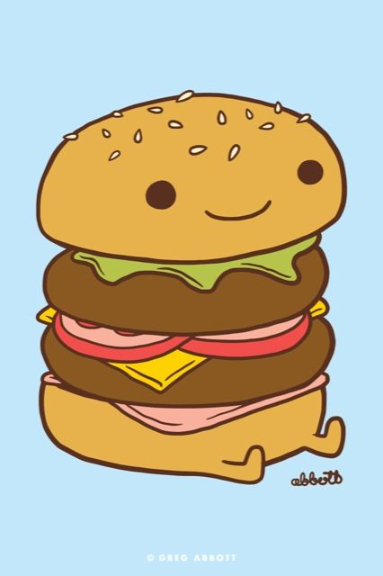 Drawn burger Best ideas Pinterest Burgu 25+