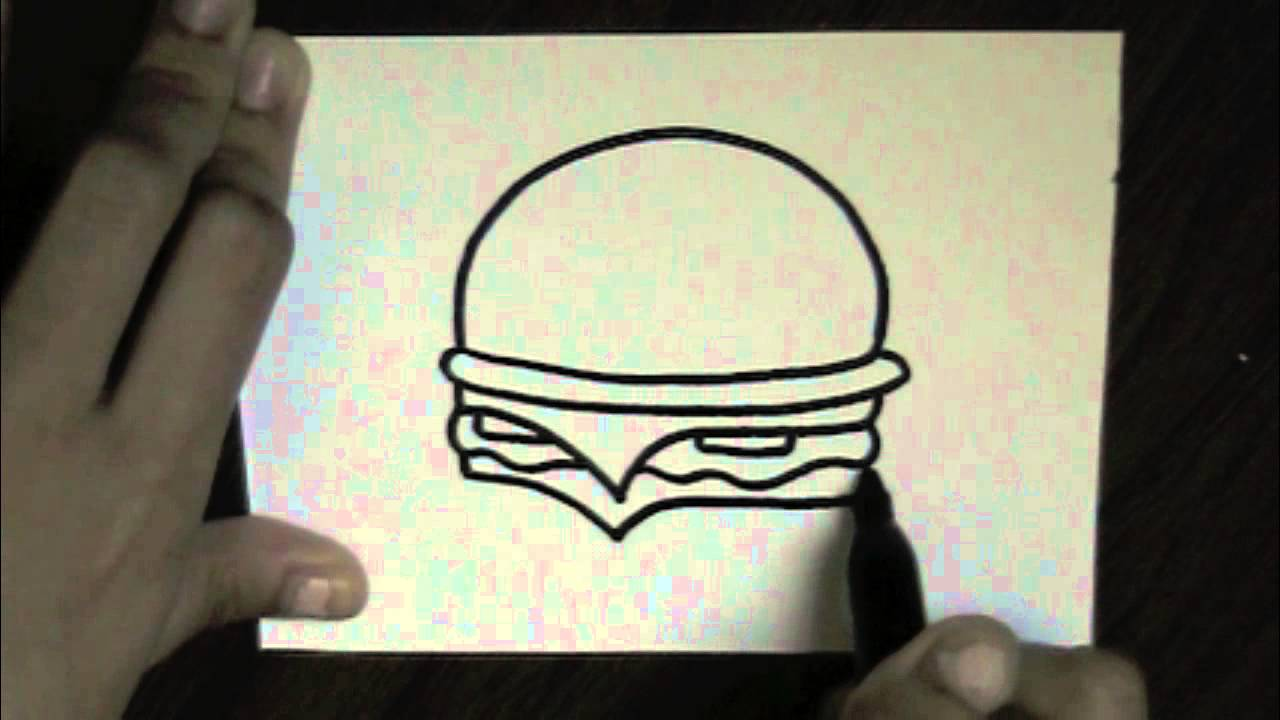 Drawn burger How cute YouTube  to