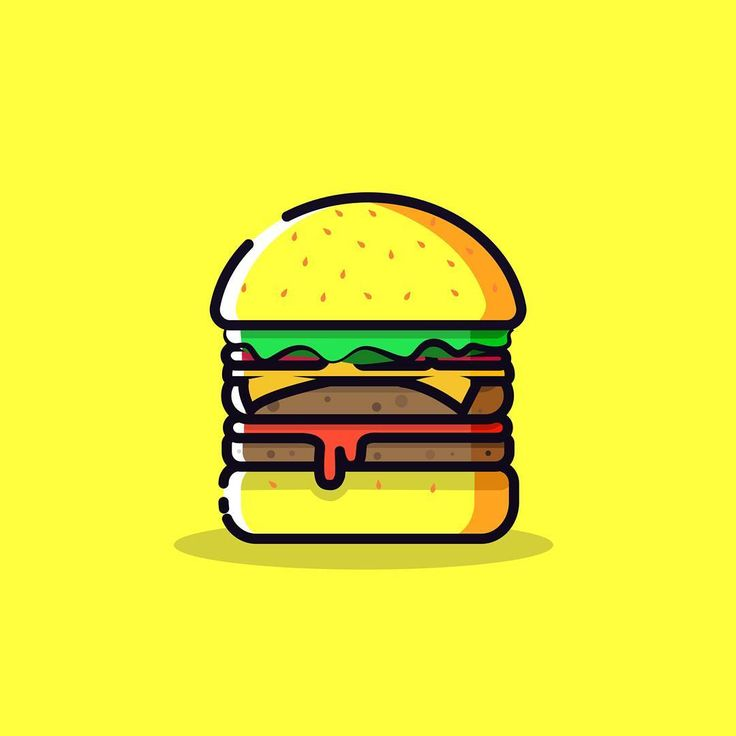 Burger clipart drawn #designspiration Burger #icon… #illustrator vector