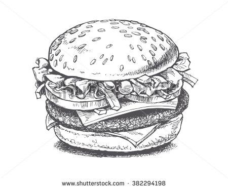 Burger clipart vector Vectors & Works Clip Burger
