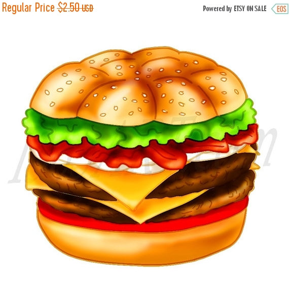 Burger clipart drawn Art Clip Clip 50% Cheeseburger