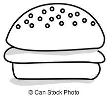 Black clipart hamburger Style art toddler of Clip
